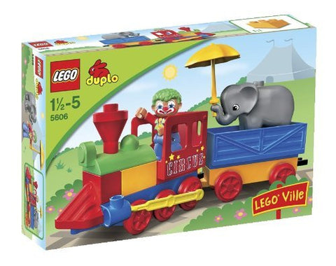 10 Pieces, Colorful Circus Train Building Set
