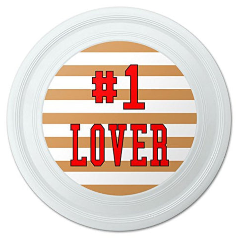 "#1 Lover Number One Favorite Novelty 9"" Flying Disc"