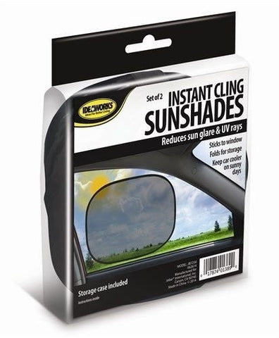 2 Instant Cling Sunshades Car Window Shade Baby Kids Sun UV Side Eyes Protect by Ideaworks