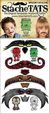 """Spooky"" Halloween Temporary Mustache Tattoos by Stache Tats"
