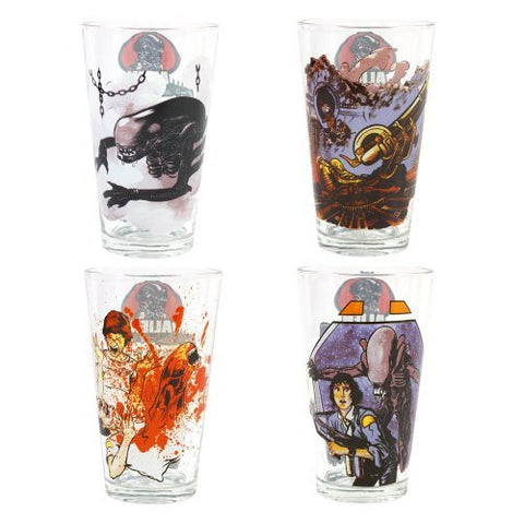"""Alien"" collection Glass (set of 4)"