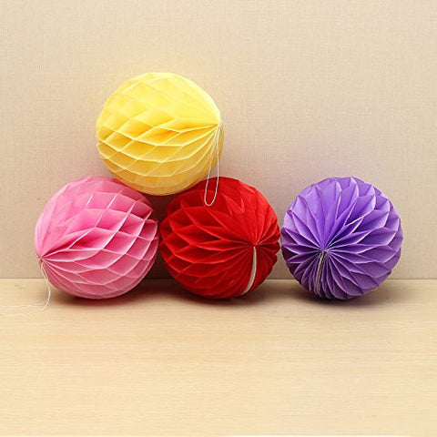 (Random Color) 10PCS Paper Honeycomb Ball Festival Wedding Decoration ;item#: GHU-75/LOP-J8505