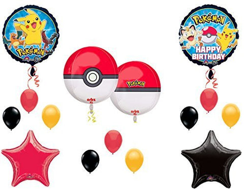 """Orbz"" POKEMON GO Birthday Party Balloons Decoration Supplies Pikachu Game"