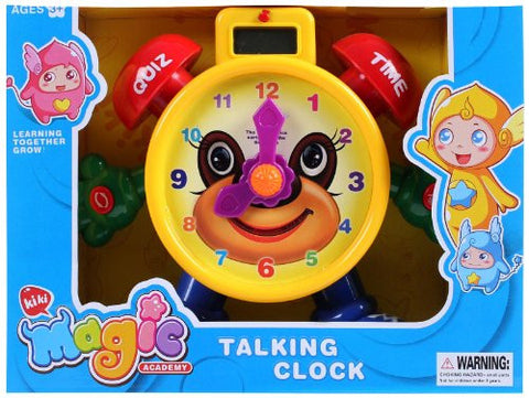 "AMPERSAND SHOPS ""Tell the Time"" Teaching Talking Clock Electronic Educational Toy for Kids"