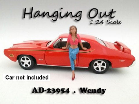 """Hanging Out"" Wendy Figurine / Figure For 1:24 Scale Models by American Diorama 23954"