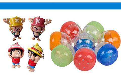 """One Piece"" Alternate Face Toys filled 2 3/4"" Acorn Color Shells Party Favor Toy Filled Capsules (20 count)"