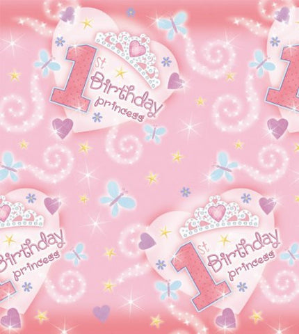 1st Birthday Princess Paper Tablecover