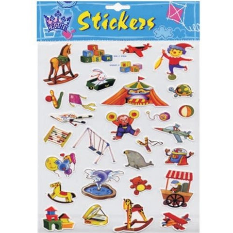 """Toys"" sheet stickers"