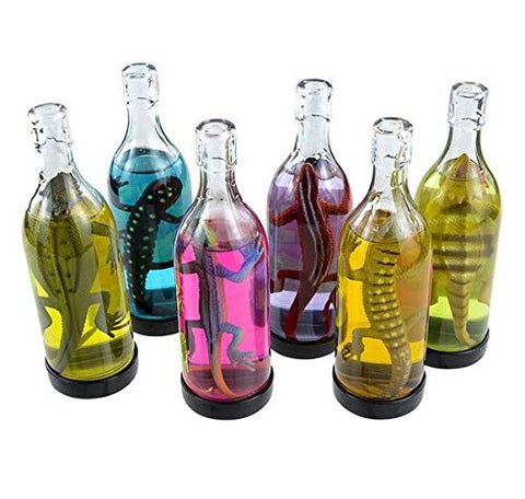 (USA Warehouse) 2 BOTTLES LIZARD SLIME, LIZARD IN BOTTLE IN COLORFUL LIQUID GAG GIFT CARNIVALITEM#NO: 43E8E-UFE6 C2A1642