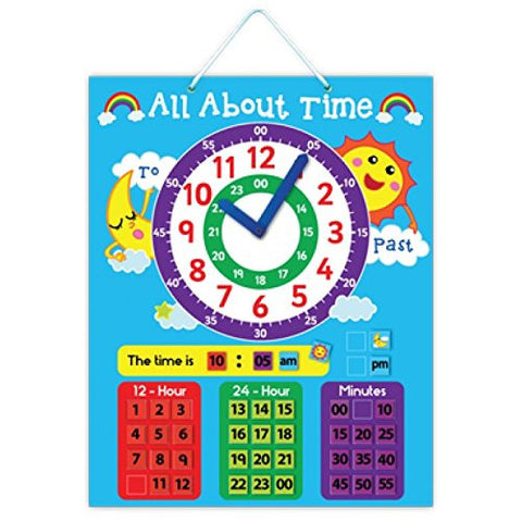 """All About Time"" Magnetic Learning Board"