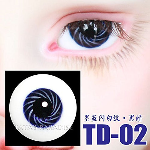 1 Pair of Eyes Eyeballs Round Doll Accessories Doll Eyeballs 14mm 16mm TD-02