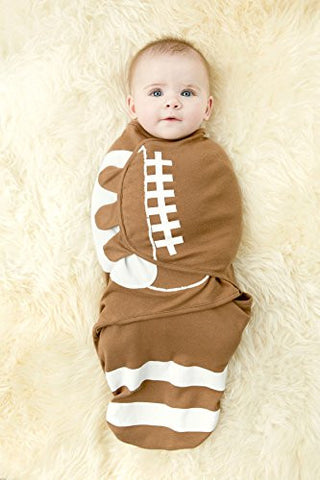100% Organic Cotton Simple Swaddle, American Football (3-6 Months)