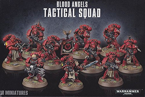1 X Warhammer 40K Blood Angels Tactical Squad (2014)
