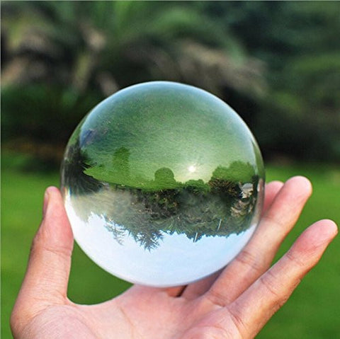 80mm Crystal Ball for Crystal Ball Decoration GooD Lluck Ball Keep Personality Decoration of Modern Living Room Decoration Photography White Bal for Interior decoration