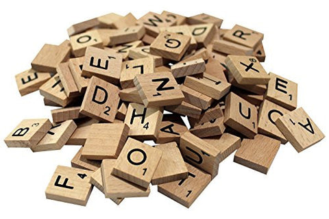 100 Scrabble Tiles - NEW Wooden Pieces for Word Games, Crafting, Jewelry, Pendants