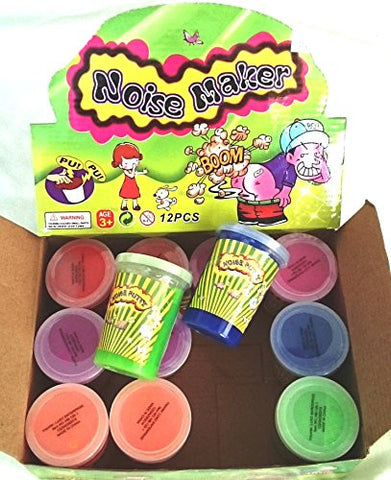 12 Fart Noise Maker Slime Putty Pu Pu Boom Child Fun GaG Party Favor Bag Fillers