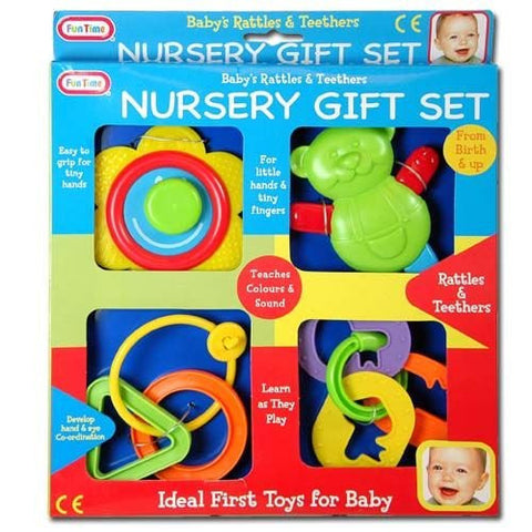 1 X Baby's Rattles & Teethers Nursery Gift Set by Funtime