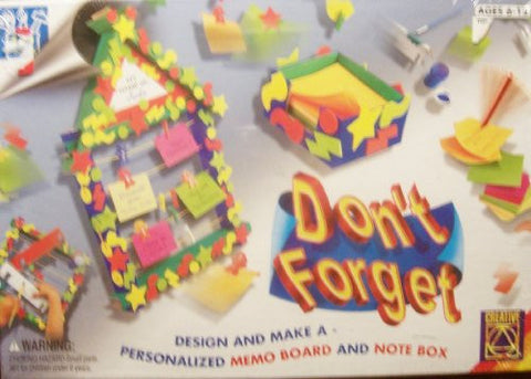 """Don't Forget"" Design & Make A Personalized Memo Board & Note Box Craft Kit"