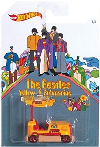"""BUMP AROUND"" 2016 Hot Wheels THE BEATLES 50th Anniversary ""YELLOW SUBMARINE"" 1:64 Scale Collectible Die Cast Metal Toy Car Model 1/6"