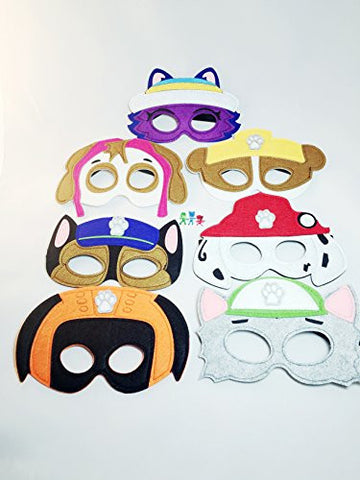 14 Paw Patrol inspired masks Pretend Play Party Favors Felt Masks Set