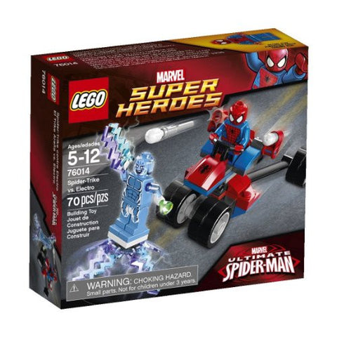 "1""H x 4""L x 3""W, Spider-Trike Vs. Electro Building Set, 70 Pieces"