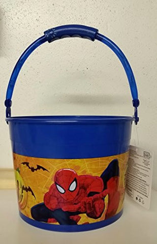 12 Inch Spiderman Light Up Halloween Pail - Flashing LED Handle