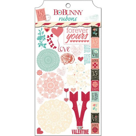"""Love Letters Rub-Ons 4.75""""X8""""-"""