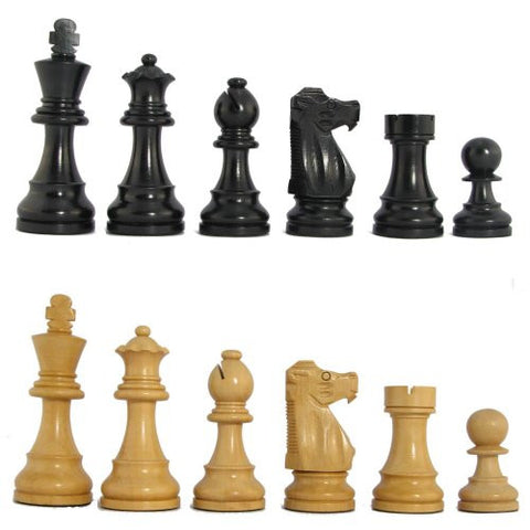"3 3/4"" MoW Classics Ebonized Executive French Staunton Chess Pieces"