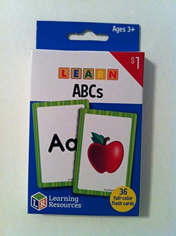 """Learning Resources - Learn ABC's Flash Cards"" Ages 3+ - (36) full color cards"