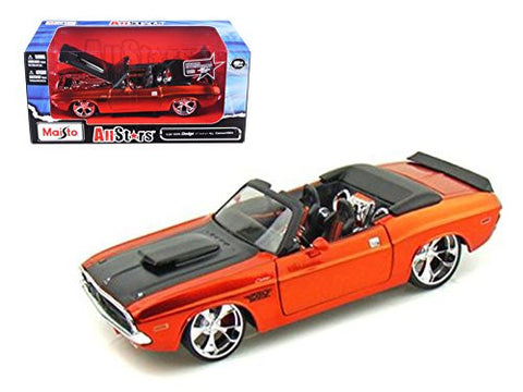 1970 Dodge Challenger R/T Convertible Bronze Custom 1/24 Model Car by Maisto