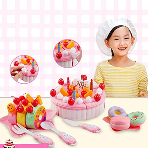 53PC Cutting Fruit Cake, Misaky Pretend Play Kid Educational Christmas Gift