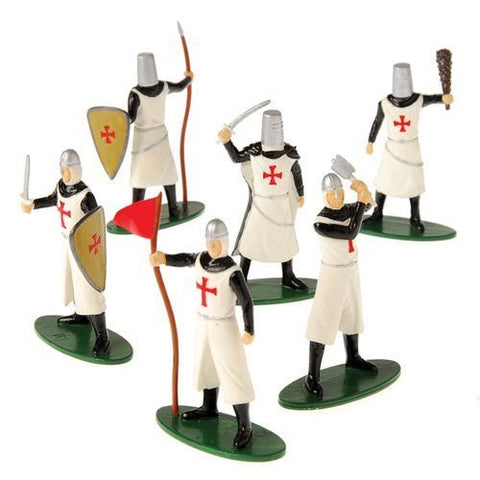12 DELUXE TOY KNIGHT MEDIEVAL - CRUSADER PLAY FIGURES by U.S. Toy