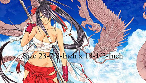 #12 - Ikki Tousen PLAYMAT CUSTOM PLAY, Ikki Battle Vixen Collection Playmat, Kantai Collection Playmat, Best for Yu-gi-oh, Pokemon, MTG etc. | Size 23-7/8-Inch x 13-1/2-Inch (AArt)