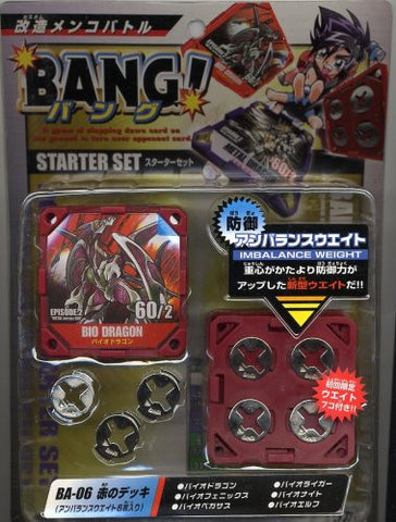 (6 pieces unbalanced weight) of deck remodeling menko Battle BANG! (Bang) Starter Set BA-06 red (japan import)