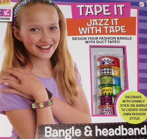 """Tape It"" - Design and decorate bangle and headband with decorative tape and stick on jewels"