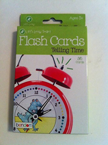 """A+ Let's Grow Smart - Telling Time - Flash Cards"" 36 Cards Ages 5+"