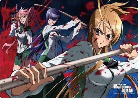 A3 clear desk mat Gakuen Apocalypse HIGHSCHOOL OF THE DEAD set