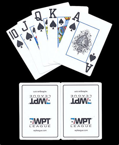 (1) New White WPT League Plastic Playing Cards with Jokers