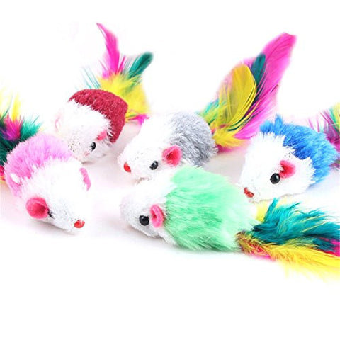 10 Pcs Soft Fleece False Mouse Funny Cat Playing Toys For Cats Kitten(Random Color)