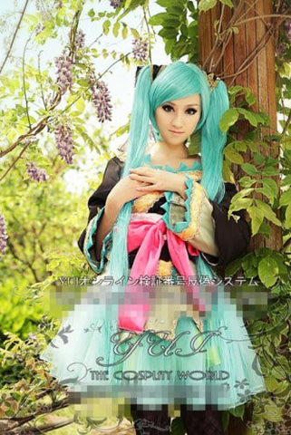 1.2m 2 Blue Ponytails Vocaloid Miku Hatsune Cosplay Party Hair Wig