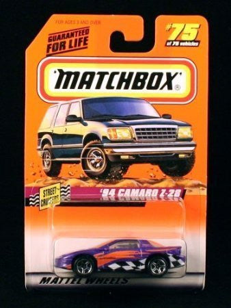 '94 CAMARO Z-28 * PURPLE * Street Cruisers Series 10 MATCHBOX 1998 Basic Die-Cast Vehicle (#75 of 75)