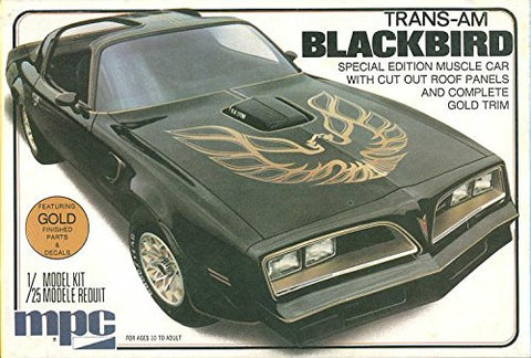 #0777 MPC Trans-Am Blackbird 1/25 Scale Plastic Model Kit,Needs Assembly