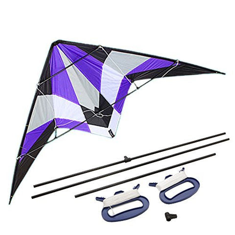 1.8m Small Storm Stunt Kite with kite string Purple with Kite String