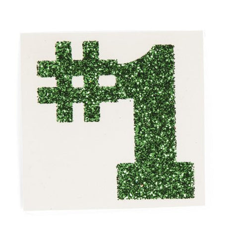 #1 Green Glitter Tattoo Stickers (1 dz)