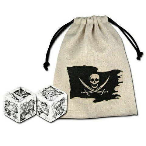(Ship from USA) Q-Workshop: Pirate Dice (2) and Dice Bag /ITEM#H3NG UE-EW23D158901
