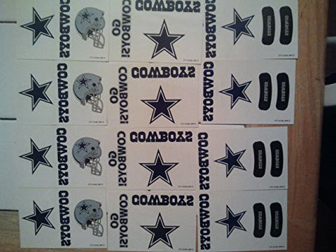 (12) NFL Dallas Cowboy Temporary Tattoos