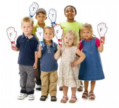 "24 Pack, Double Sided Hands-Up Dry Erase Answer Board in Blue/Red, 5"" x 11"""