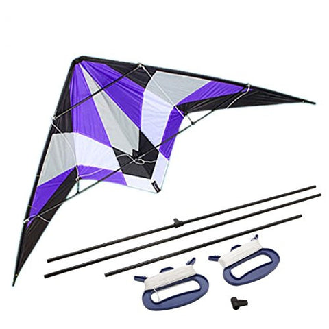 1.8m Small Storm Stunt Kite Dual Line Large Wing Span Prism Delta Outdoor Flying Purple wire Kite Purple