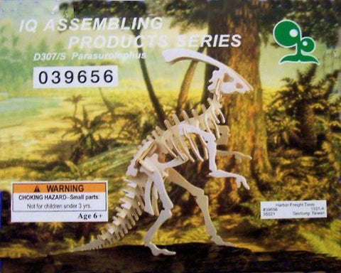 """ABC Products"" - Wooden 3-D ~ Dinosaur Assembling Skeleton Kit (Parasurolophus Model - Helps Kids Develop Coordination and Problem-Solving Skills)"