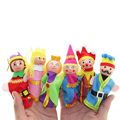 6PCS Hand Puppets, Misaky Finger Toys Christmas Gift Refers Toy